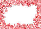 Red Snowflakes Background — Vector de stock