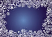 BACKGROUND_BLUE_SNOWFLAKES — Stock Vector