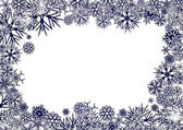 Blue Snowflakes Background — Stock Vector