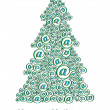 Royalty-Free Stock Vector Image: Christm@s tree green