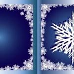 Blue Greetings card Snowflake — Stock Vector