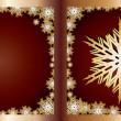 Stock Vector: Gold Greetings card Snowflake