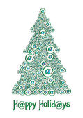 Christm@s tree green — Stock Vector