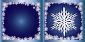 Blue Greetings card Snowflake — Stock Vector