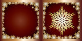 Gold Greetings card Snowflake — Stock Vector