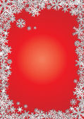 Background new year red snowflakes — Stock Vector