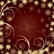 Beautiful Gold Christmas background — Stock vektor