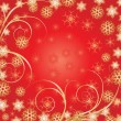 Beautiful Red Christmas background — Stock Vector