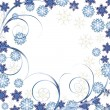 Beautiful White Christmas background — Stock Vector
