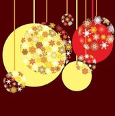 New Year`s baubles — Stockvektor