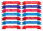 Merry Christmas Headlines — Stock Vector