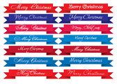 Merry Christmas Headlines — Stock Vector