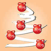 Sale tree red — Stock Vector