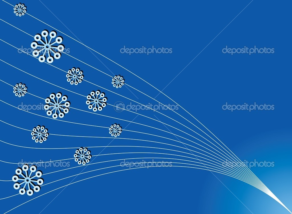 Simple Christmas blue backdrop for greetings card, vector available — Imagen vectorial #1360997