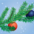Christmas tree branch — Stockvector