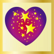 Stars heart — Stock Vector