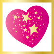 Stars in heart — Stock Vector