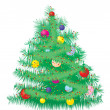 Stock Vector: Furry Christmas tree