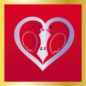Love birds — Stock Vector
