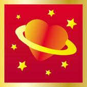 Space heart — Stock Vector