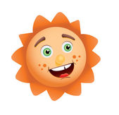 Funny sun — Stock Vector