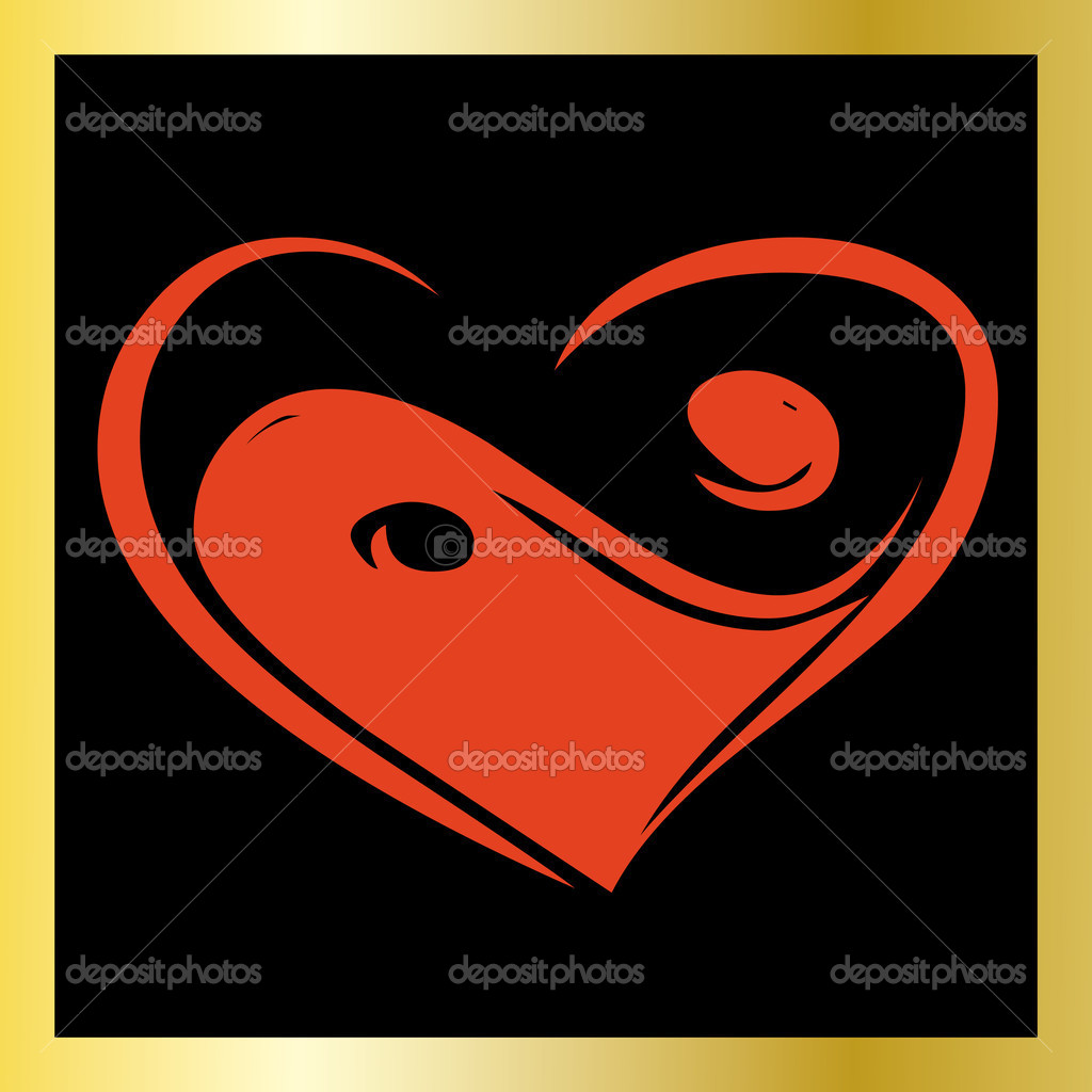 Valentine card, vector illustration, see more at my portfolio    — Stock Vector #1372479
