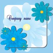 Blue Flower shop — Stock Vector