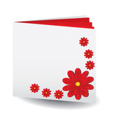 Red book with flowers — Stock Vector