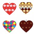 Set of 4 hearts — Stock vektor