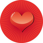 Rounted heart — Stock Vector