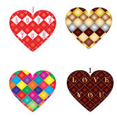 Set of 4 hearts — Stock Vector