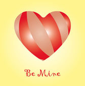 """Be mine"" card — Stock Vector"