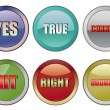 Stock Vector: Correct buttons