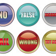 Fail buttons — Stock Vector