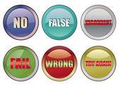 Fail buttons — Stock Vector