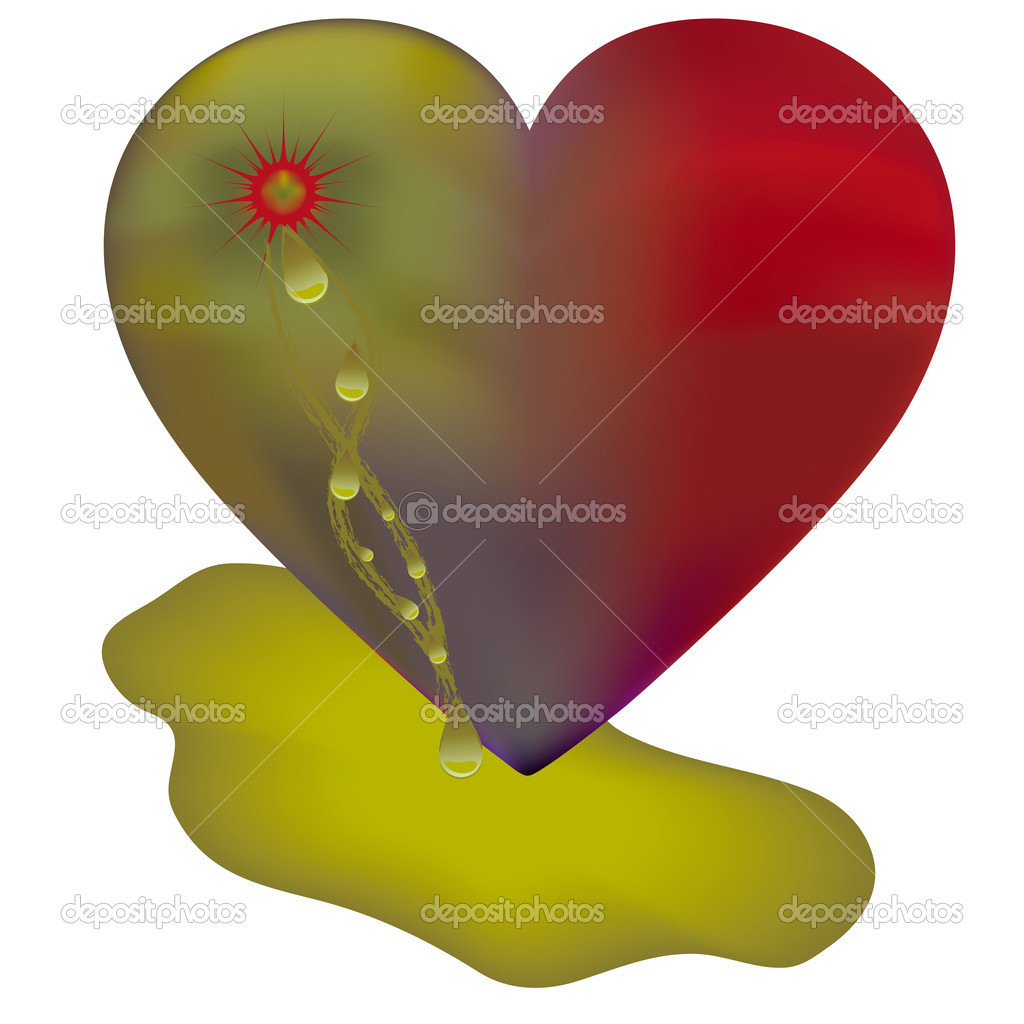 Anti valentine card with disgusting heart, vector   Stock Vector #1514818