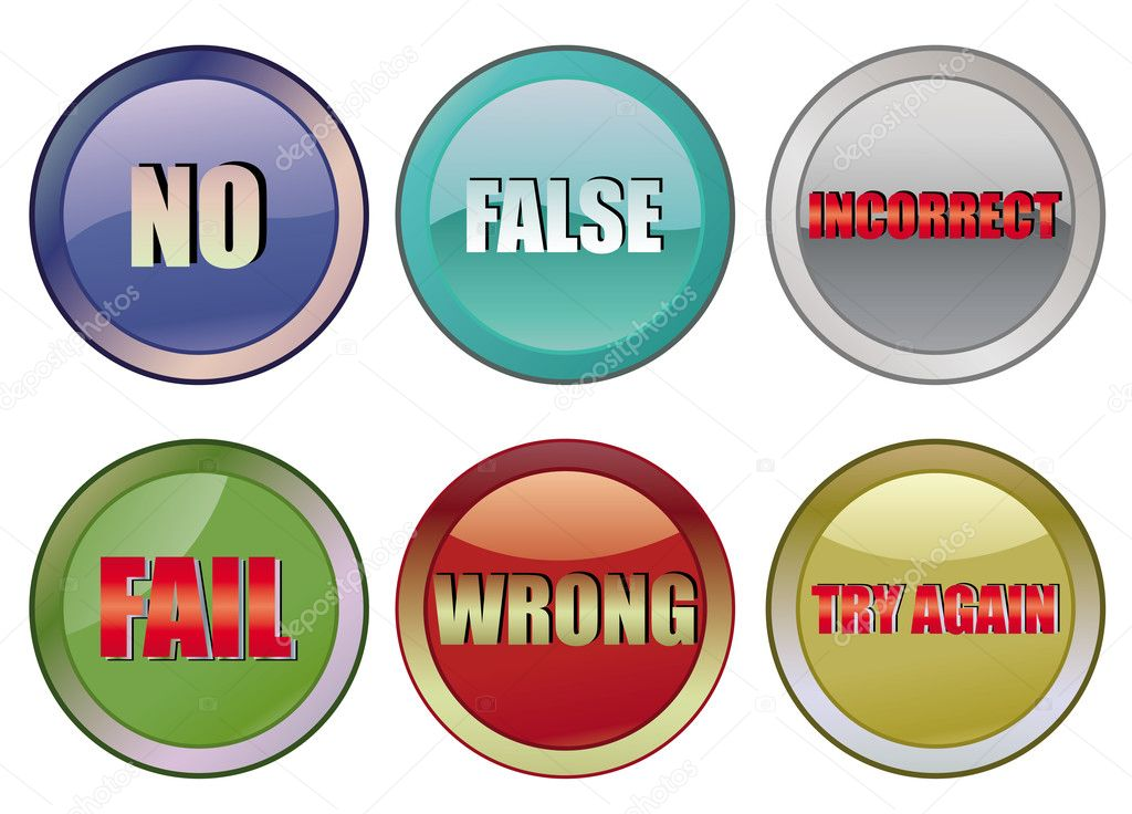Set of fail buttons, vector illustration — Stock Vector #1516875