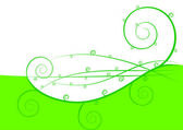 Green abstract spring background — Stock Vector