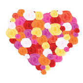 Heart made from roses — Stock Vector