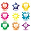 Royalty-Free Stock Vector Image: Glass Love buttons