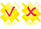 Yellow squared buttons — Stock Vector