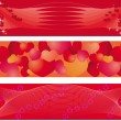 Vector de stock : Set of 3 banners on balentine day