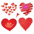 Stock Vector: Set of valentines hearts, part 4