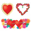 Set of valentines hearts, part 2 — Stock Vector