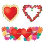conjunto de corazones de San Valentín, parte 2 — Vector de stock