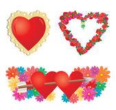 Set voor valentines hearts, deel 2 — Stockvector