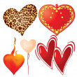 Set of valentine`s hearts, part 9 — Stock Vector