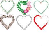 Set of valentine`s hearts, part 6 — Stock Vector