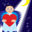 Love angel show love — Vector de stock #1719407
