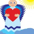 Love angel show love — Stockvectorbeeld